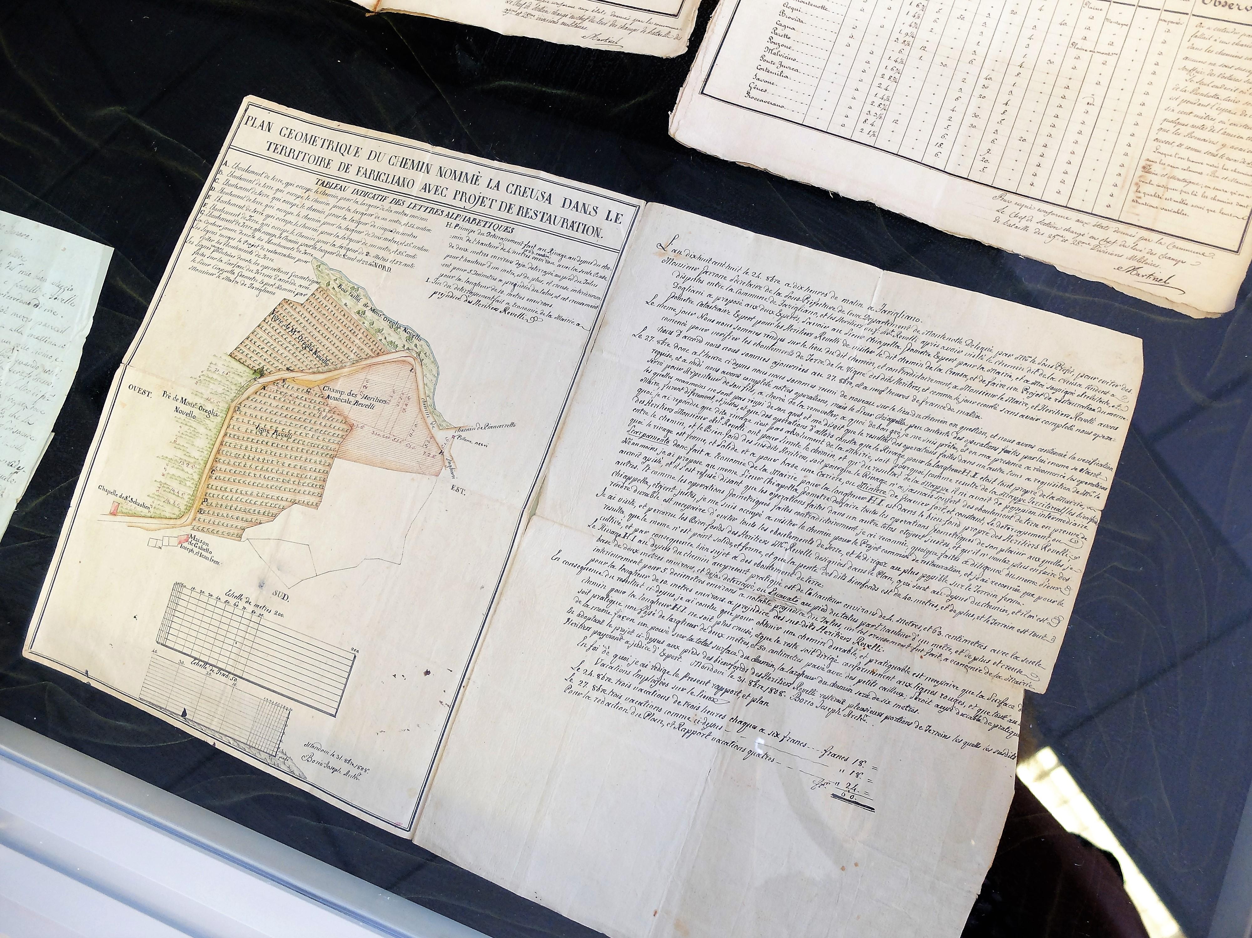 Mappa per la stesura del catasto napoleonico