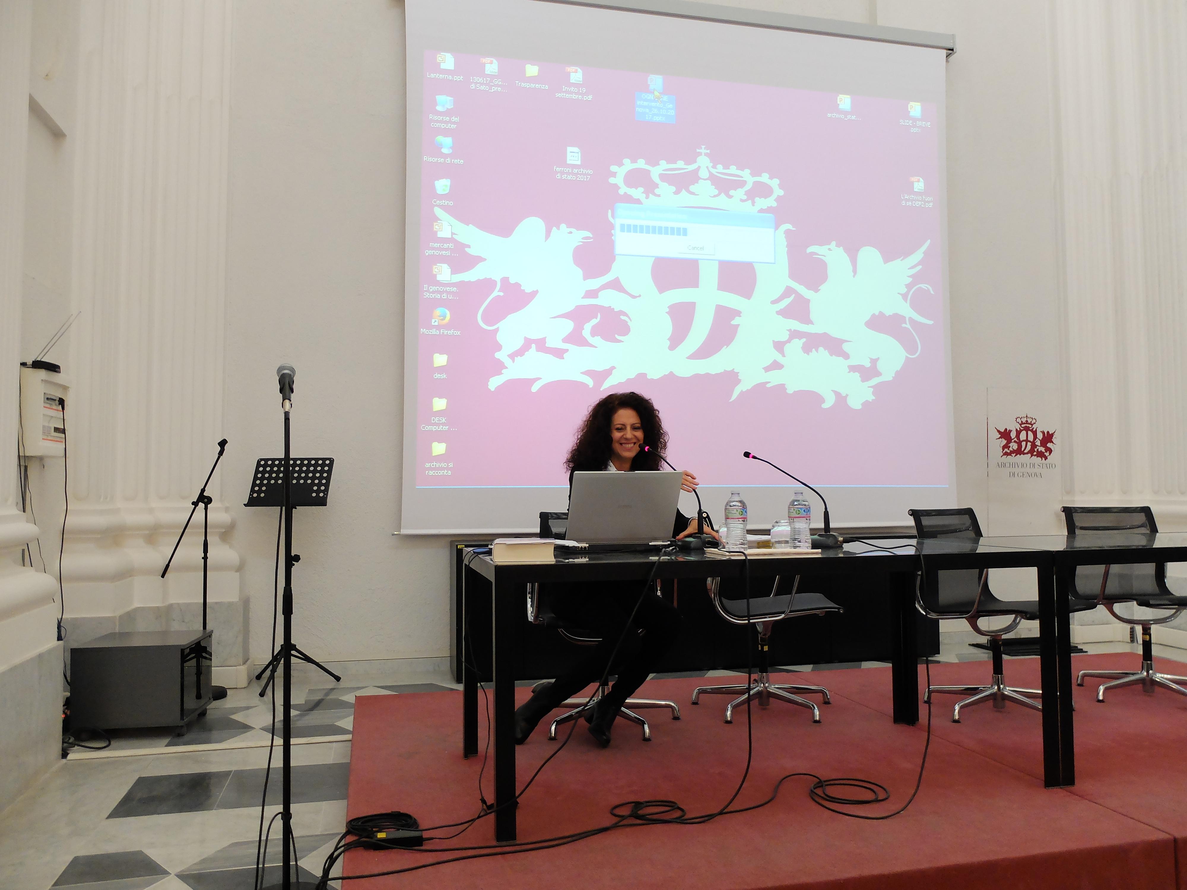 Susanna Ognibene, archivista d'impresa e membro del Consiglio direttivo Anai Liguria