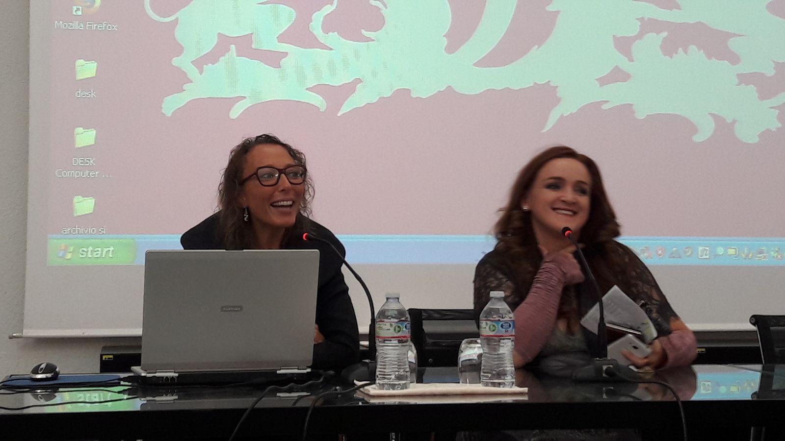 Da sinistra, Simona Bo, Presidente Anai Liguria e Annalisa Rossi, Direttrice dell